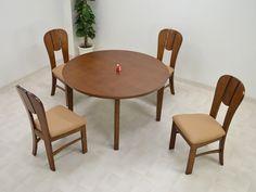 Dining Table 120丸ダイニングテーブル5点セットmashL4Dミドルブラウン4人用 北欧 インテリア 雑貨 家具 Modern ¥59300yen 〆11月04日