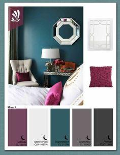Lila-Violett-Töne-Wandfarbe