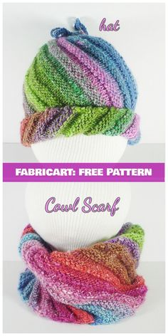 Knit Emergency Hat Cowl In One Free Pattern