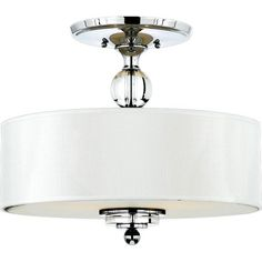 I pinned this Downtown Semi-Flush Mount from the Quoizel event at Joss and Main!