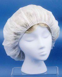 """Disposable Hair Cover, White Polypropylene, 24"""" Large, Lot 100 by ERB. $5.87. Order Quantity: 1 Bag. 24"""" Bouffant Hair Cover. 3M Silver Retro-Reflective TrimFda & Usda Acceptable. White Polypropylene With Elastic Band. Keeps Hair Out Of Eyes & Away From Work Area. Suggested Applications: General Lab Work, Restaurants For Food Prep & Kitchen Preparation."""