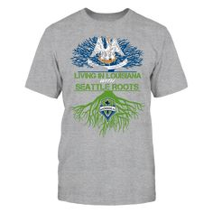 Seattle Sounders - Living Roots Louisiana T-Shirt, TIP: If you buy 2 or more (hint: make a gift for someone or team up) you'll save quite a lot on shipping.  Click the GREEN BUTTON, select your size and style.  The Seattle Sounders FC Collection, OFFICIAL MERCHANDISE  Available Products:          Gildan Unisex T-Shirt - $24.95 Gildan Women's T-Shirt - $26.95 District Women's Premium T-Shirt - $29.95 District Men's Premium T-Shirt - $28.95 Next Level Women's Premium Racerback Tank - $29.95…