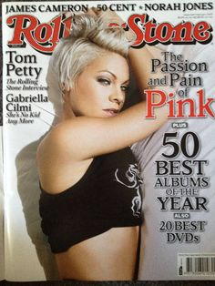 P!NK on the cover of the Rolling Stone