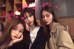 Eve, Heart X and Sunwoo Mode Ulzzang, Korean Ulzzang, Bff Goals, Best Friend Goals, Cute Korean Girl, Asian Girl, Korean Best Friends, Girl Friendship, Girl Couple