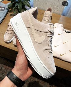 Nike Shoes OFF! ►► Shoes Nike shoes Sneakers Outfit shoes Fashion shoes Sneakers nike - Nike Air Force 1 Sage Low in Beige - Best Nike Running Shoes, Nike Free Shoes, Cool Nike Shoes, Nike Air Shoes, Shoes Sneakers, Women's Shoes, Beige Shoes, Beige Sneakers, Designer Shoes