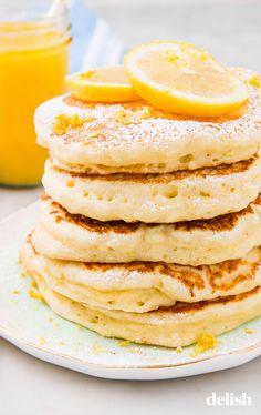 Lemon Ricotta Pancakes Are Ultimate Brunch GoalsDelish Brunch Recipes, Breakfast Recipes, Pancake Recipes, Breakfast Time, Breakfast Ideas, Dinner Recipes, Lemon Ricotta Pancakes, Buttermilk Pancakes, Lemon Ricotta Cookies