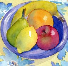 Fruit - watercolor by Suzanne Martin