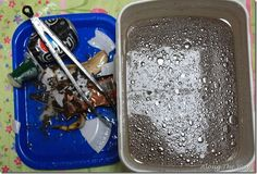 Experiment about water and removal of water pollution