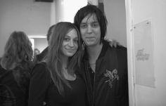 Julian Casablancas with his wife Juliet <3