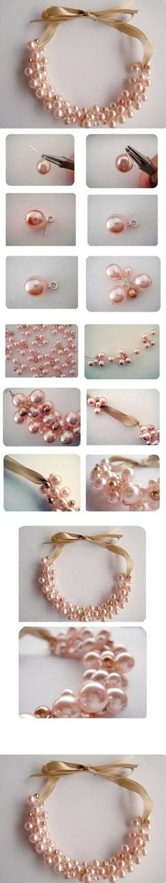 Beautiful Pearl Necklace M Wonderful DIY Beautiful Pearl Necklace: