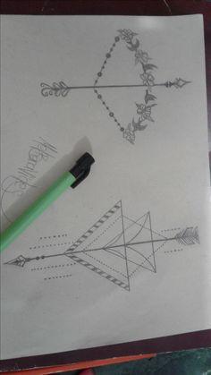 tattoo arco y flecha - arrows - geometrico - ideas tattoo - ideas tatuajes