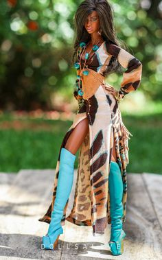 Mighty Jungle Blue OOAK outfit | by dollsalive