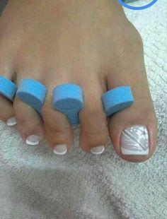 Manicure Nail Designs, Pedicure Designs, Pedicure Nail Art, Toe Nail Designs, Toe Nail Art, Manicure And Pedicure, Nail Polish Designs, Pretty Pedicures, Pretty Toe Nails