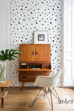 Geometric Shapes - Modern Wallpaper -  Minimalistic - Removable Wallpaper - Wall Decor - Wall Covering - Wall Decal - Decor - Sticker -108