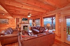 One of the living rooms in our large cabins