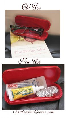 first aid kit from old eye glass case Make Your Own First Aid Kit, Diy ccbff938f6