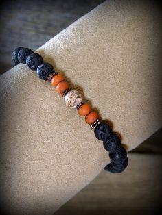 Bracelet for Men Mens Jewelry Beaded Stretch от StoneWearDesigns