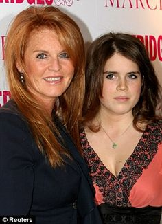 The Duchess of York and Princess Eugenie