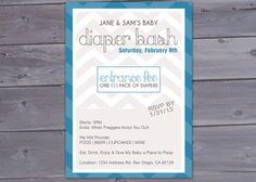 Diaper Bash Chevron  Baby Shower Invitation Printable by BriGeeski, $12.00