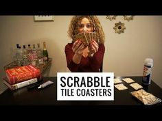 Use tiles from the classic boardgame to make custom Scrabble Coasters. This easy DIY project makes an inexpensive, personalized gift or home decor! Scrabble Coasters, Scrabble Tile Crafts, Tile Coasters, Christmas Craft Projects, Diy Christmas Gifts, Simple Christmas, Leftover Tile, How To Make Coasters, Diy Craft Projects
