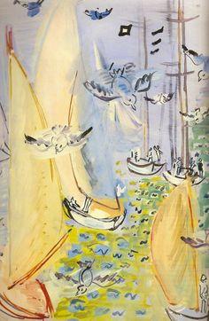 Régates aux mouettes, 1930 Raoul Dufy