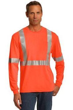 CornerStone CS401LS Hi Vis ANSI Class 2 Long Sleeve Safety T-Shirt