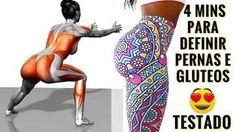 4 MINUTOS PARA AUMENTAR SEUS GLÚTEOS E PERNAS! 4 Exercícios Para Pernas e Gluteos! Aumentar Bumbum