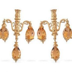 CHANDELIER MANSION VICTORIAN VENETIAN HISTORICAL CANDLE CITRINE EARRINGS! NEW! #STEY #Chandelier