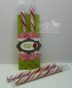 Joyous celebrations goodie holder by Stampin' Up! Debbie Henderson, Debbie's Designs.