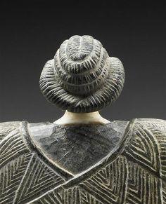 Princesse de Bactriane, Détail : tête vue de dos. 3e millénaire av J.-C.