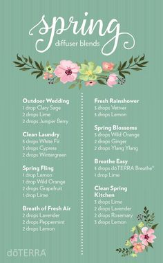 Essential oil diffuser blends for spring Best smelling essential oils for diffuser. Here are some great essential oil blends to enjoy. These doTERRA diffuser blends help you blend oils Doterra Diffuser, Essential Oil Diffuser Blends, Oils For Diffuser, Petal Diffuser, Diffuser Recipes, Aromatherapy Oils, Aromatherapy Recipes, Doterra Essential Oils, Doterra Blends