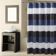 Fairfax Navy Shower Curtain