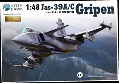 45.00$  Watch here - http://aligjg.worldwells.pw/go.php?t=2039114797 - Kitty hawk KH80117 1/48 Jas-39A/C Gripen plastic model kit 45.00$