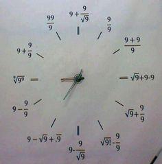 Mathematical clock!