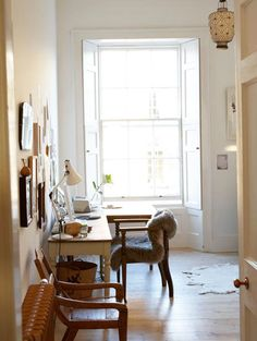 Amazing photography into the light with this office by Rosie Brown - p.s love the furry chair!
