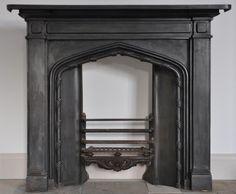 antique cast iron fireplace | antique cast iron gothic fireplace 1830s an 1837 38 antique cast iron ...