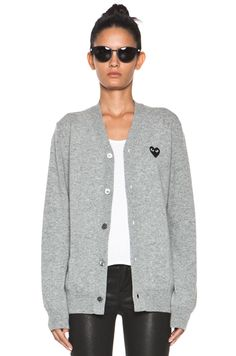 comme des garcons PLAY my go to cardigan!