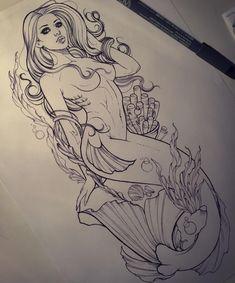 Mermaid for tomorrow. Hope she likes it..