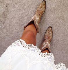 Cowboy boots & lace