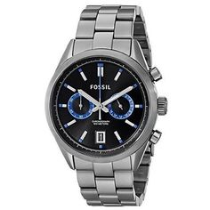 Fossil Men's Del Rey CH2970 Grey Stainless-Steel Quartz Watch