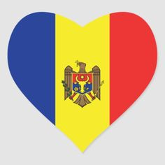 Shop Moldova Flag Heart Sticker created by FlagAndMap. Moldova Flag, 1 Decembrie, Political Events, Flags Of The World, National Flag, My Favorite Color, Custom Stickers, Icon Design, Countries