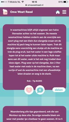 Stinkende wasmachine volledig leeg maken