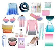 """Obsessed with...Gradients..."" by beavercity on Polyvore featuring Casetify, Magid, Havaianas, Herschel, NYX, MISCHA, Boohoo, DENY Designs, Barneys New York and brights"