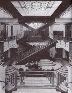 Art Deco staircase by Raymond Subes (other  Art Deco interior selections on page)