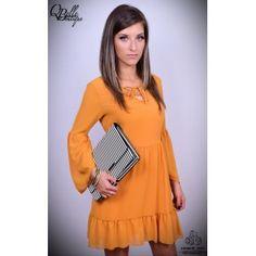 Rochie galbena cu maneci bufante Dresses With Sleeves, Long Sleeve, Fashion, Moda, Sleeve Dresses, Long Dress Patterns, Fashion Styles, Fashion Illustrations