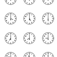Printable clock faces worksheets  Tutors, Worksheets and more at: www.TutorFrog.com/worksheets-wyzant