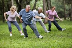 """Recently, researchers compared the effects of tai chi to leg strengthening exercises (a physical therapy called """"lower extremity training,"""" or LET) in reducing falls. Falls are a leading cause of serious injuries in older adults and can lead to. Tai Chi Exercise, Do Exercise, Exercise Videos, Walking Exercise, Exercise Routines, Leg Strengthening Exercises, Chair Exercises, Balance Exercises, Stretches"""