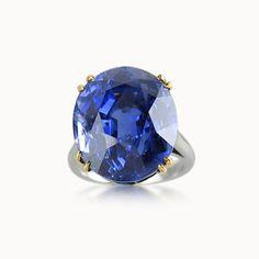 SAPPHIRE AND DIAMOND RING BY BOUCHERON