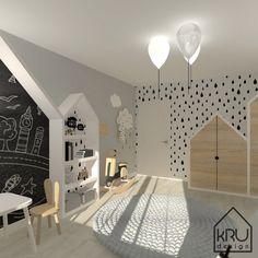 » Zakres projektu: pokój dziecięcy KRU Design Kids Bedroom Designs, Kids Room Design, Interior Design Living Room, Baby Bedroom, Nursery Room, Bedroom Decor, Toddler Rooms, Toy Rooms, House Beds