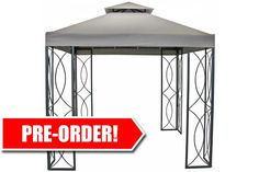 8' x 8' Steel Frame Gazebo with High-Grade 300D Canopy